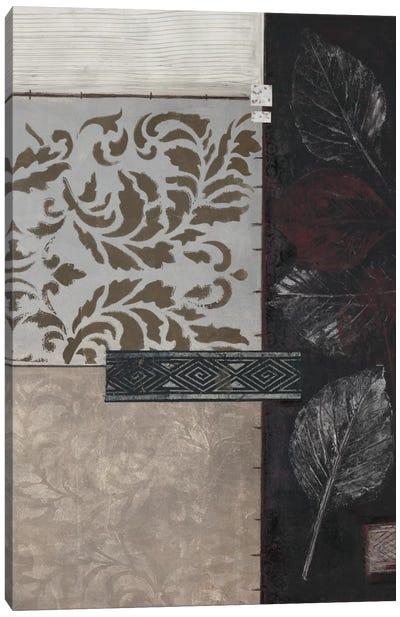 Silver Damask II Canvas Art Print