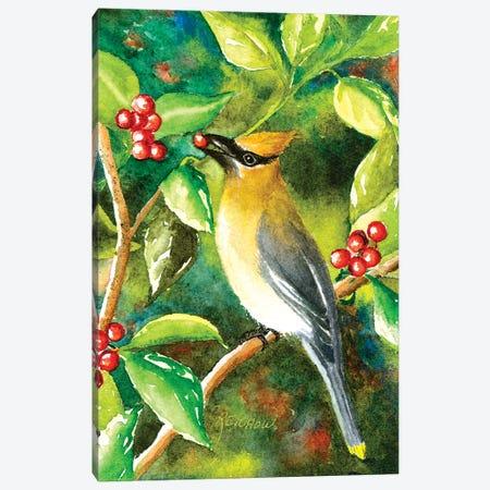 Cedar Wax Wing Canvas Print #CTW12} by Christine Reichow Canvas Art Print