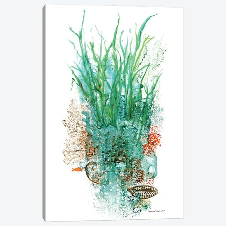 Flora Of The Deep I Canvas Print #CTW18} by Christine Reichow Canvas Print