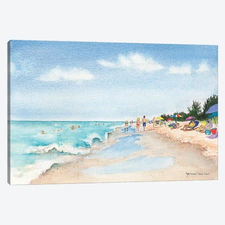 Florida Beach Day Canvas Print #CTW19} by Christine Reichow Canvas Art Print