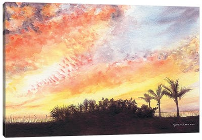 Florida Sunset Canvas Art Print