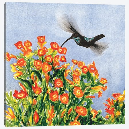 Humming Along Canvas Print #CTW28} by Christine Reichow Canvas Artwork