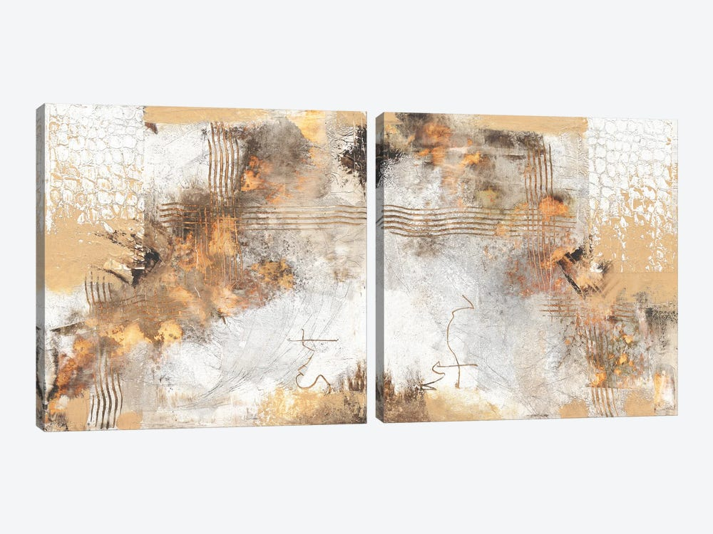 Self-Guided Diptych by Christine Reichow 2-piece Canvas Art Print
