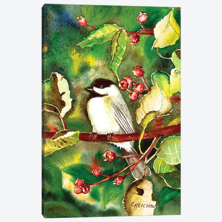 My Little Chickady Canvas Print #CTW39} by Christine Reichow Art Print