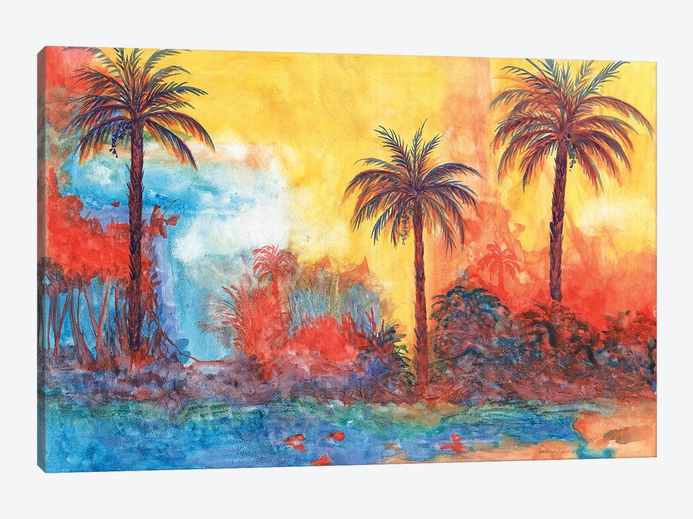 Palms by Christine Reichow 1-piece Canvas Artwork
