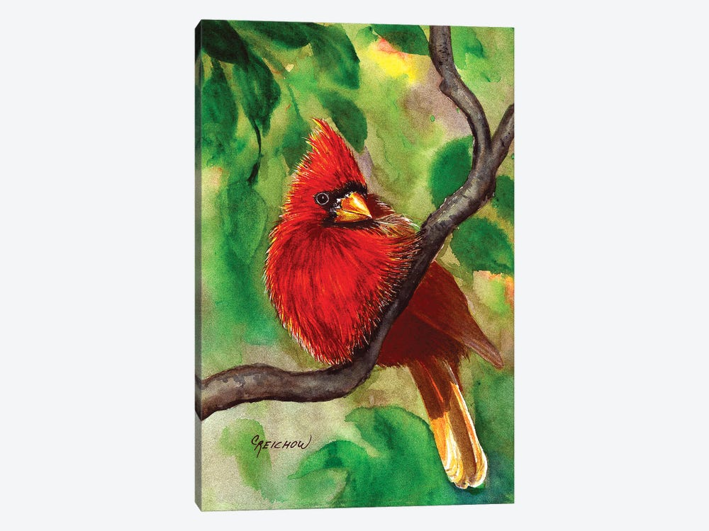 Regal Red by Christine Reichow 1-piece Canvas Art
