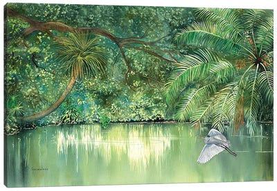 River Resident Canvas Art Print