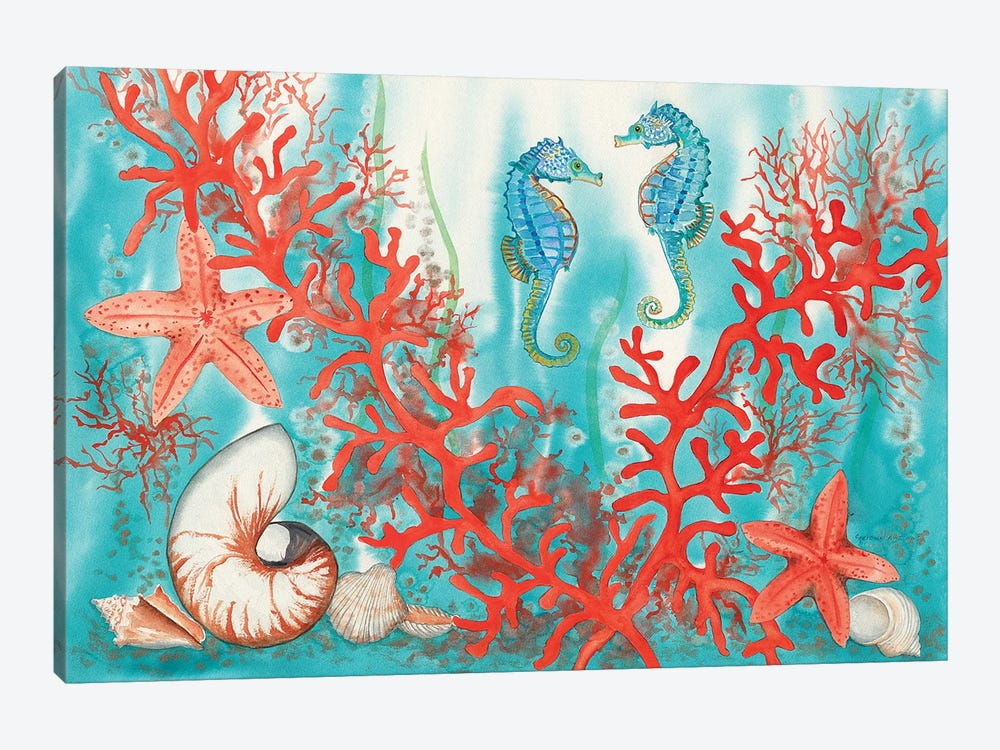 Sea Life by Christine Reichow 1-piece Canvas Wall Art
