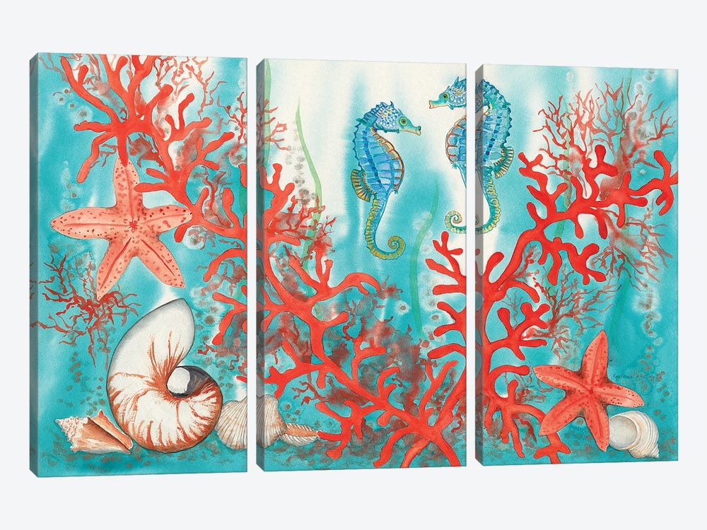 Sea Life by Christine Reichow 3-piece Canvas Wall Art