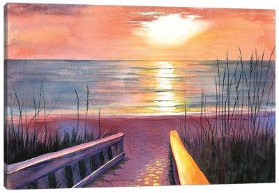 Sea Oat Sunset Canvas Art Print