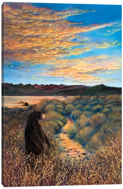 Looking West At Martis Canvas Art Print