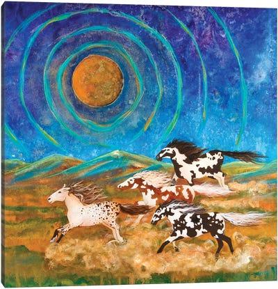 Power Ponies Canvas Art Print