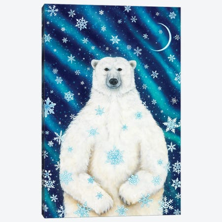 Winter Solstice Bear Canvas Print #CTY1} by Cathy McClelland Art Print