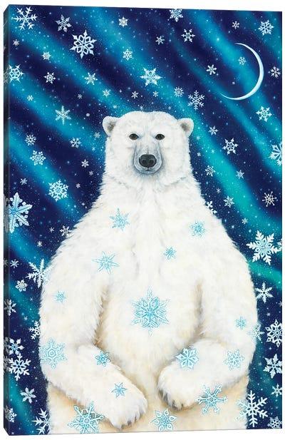 Winter Solstice Bear Canvas Art Print