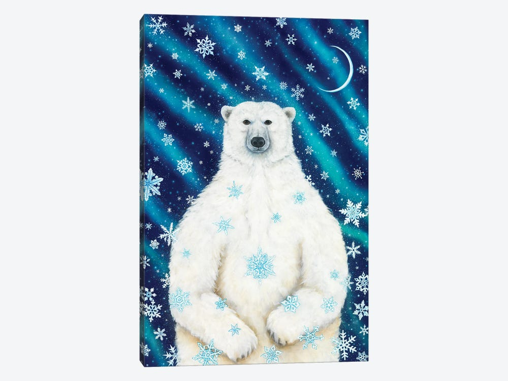 Winter Solstice Bear by Cathy McClelland 1-piece Canvas Art Print