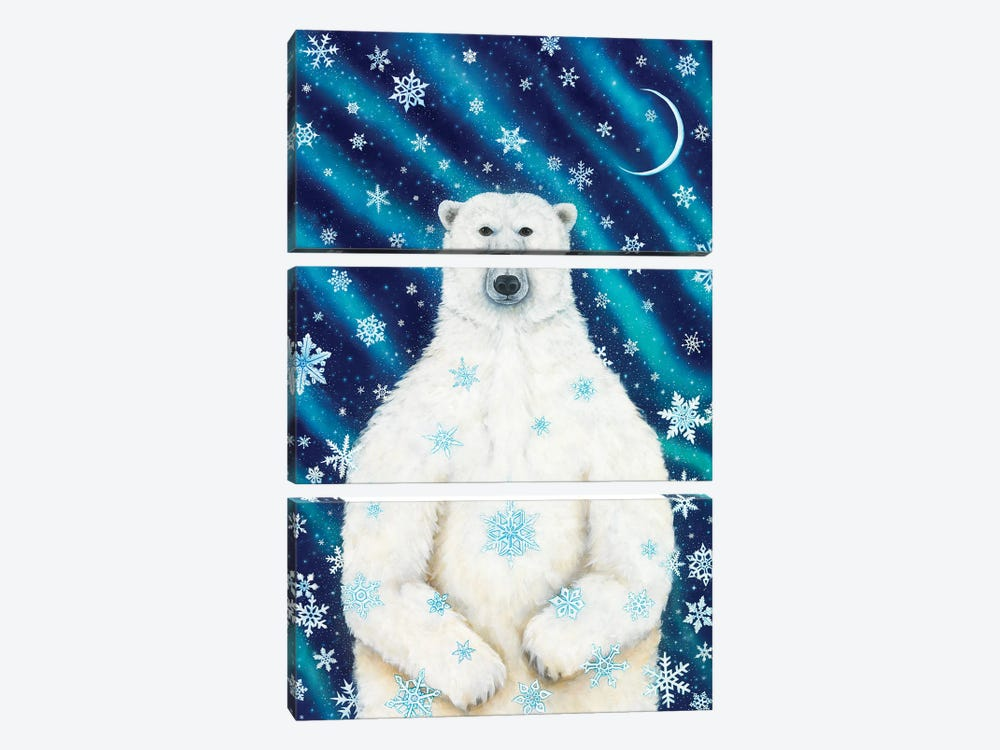 Winter Solstice Bear by Cathy McClelland 3-piece Art Print
