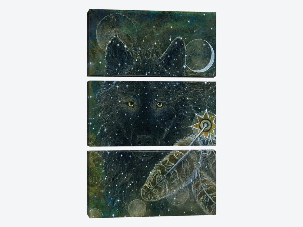 Spirit Brother by Cathy McClelland 3-piece Canvas Wall Art