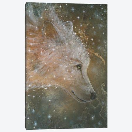 Star Wolf Canvas Print #CTY26} by Cathy McClelland Art Print