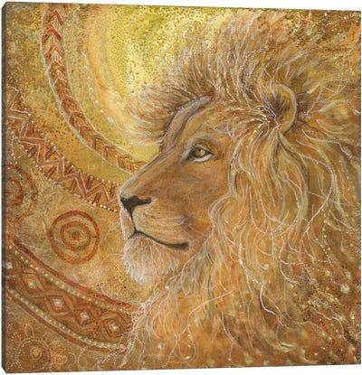 Lion Sun Canvas Art Print