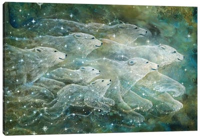 Starlight Bears Canvas Art Print