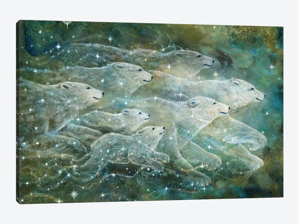 Starlight Bears by Cathy McClelland 1-piece Canvas Art Print