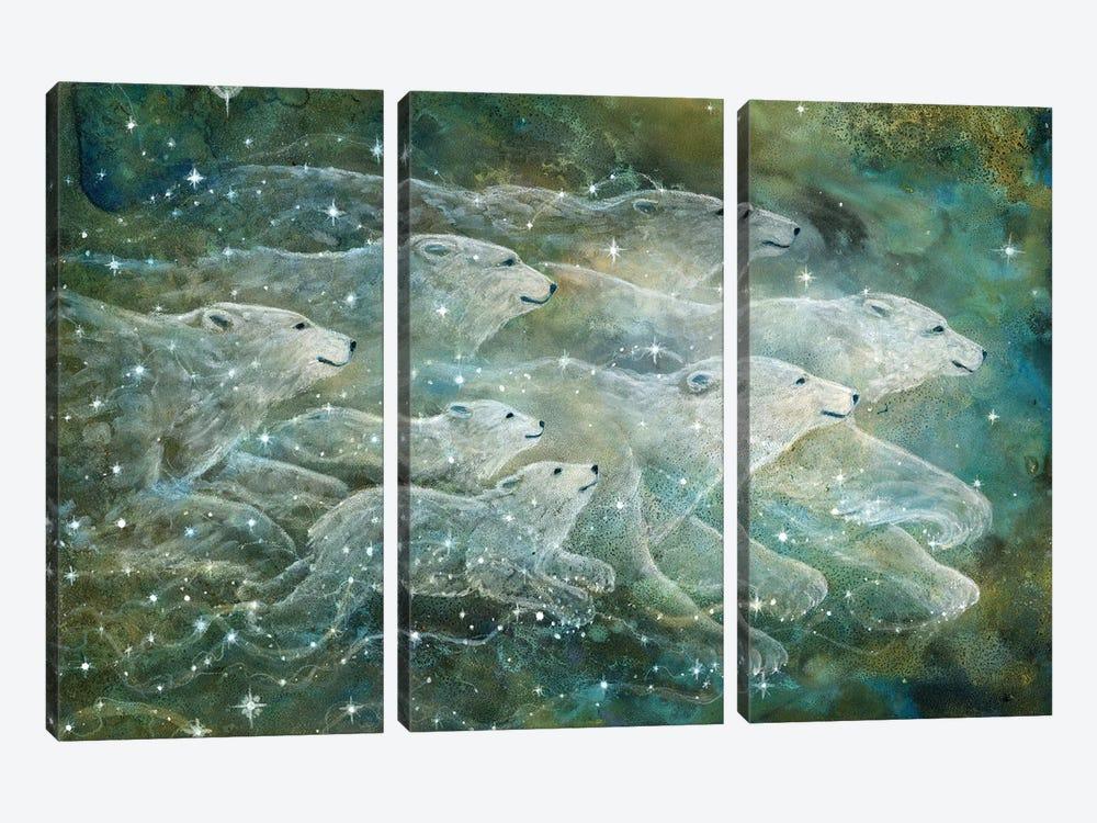 Starlight Bears by Cathy McClelland 3-piece Canvas Print