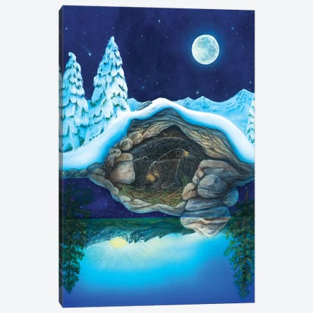 Bear Dreams Canvas Print #CTY3} by Cathy McClelland Art Print
