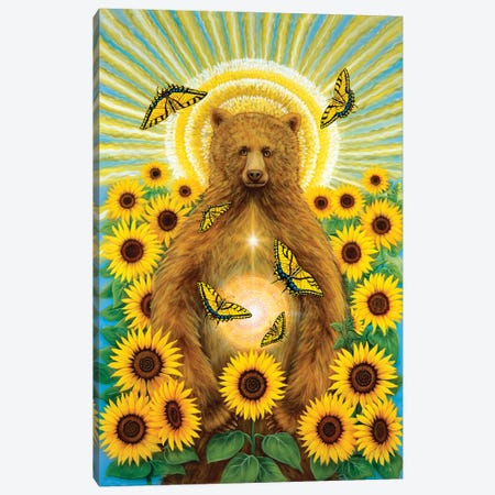 Sun Bear Canvas Print #CTY7} by Cathy McClelland Canvas Art