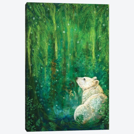 Land Of The Spirit Bear Canvas Print #CTY8} by Cathy McClelland Canvas Art Print