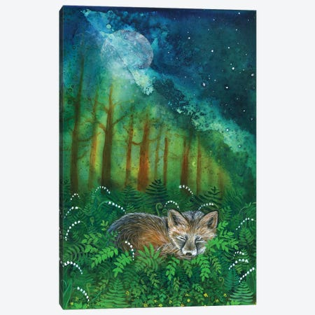 Dreaming Fox Canvas Print #CTY9} by Cathy McClelland Canvas Art Print