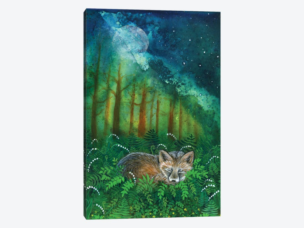 Dreaming Fox by Cathy McClelland 1-piece Canvas Print