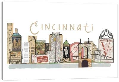 Cincinnati Horizontal Skyline Canvas Art Print