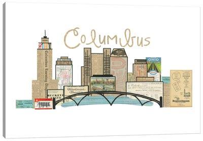 Columbus Oh Horizontal Skyline Canvas Art Print