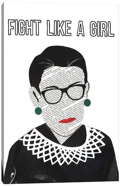 RBG Fight Like A Girl Canvas Art Print