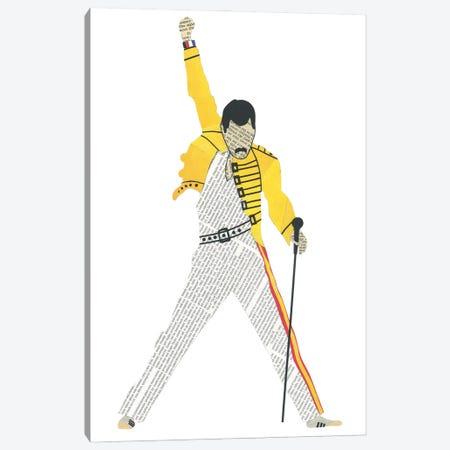 Freddie Canvas Print #CTZ22} by Paper Cutz Art Print