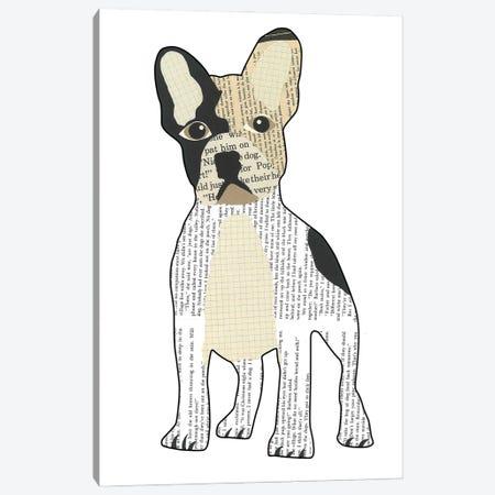 French Bulldog Canvas Print #CTZ23} by Paper Cutz Art Print