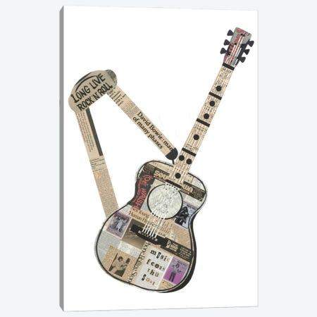 Guitar Canvas Print #CTZ25} by Paper Cutz Canvas Wall Art
