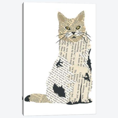 Kitty Canvas Print #CTZ28} by Paper Cutz Canvas Art Print