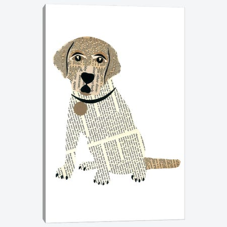 Labrador Canvas Print #CTZ30} by Paper Cutz Canvas Artwork