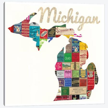 Michigan Matchbook Canvas Print #CTZ38} by Paper Cutz Canvas Art