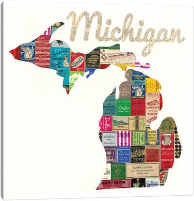 Michigan Matchbook Canvas Art Print