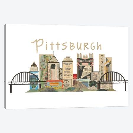 Pittsburgh Horizontal Skyline Canvas Print #CTZ3} by Paper Cutz Canvas Wall Art