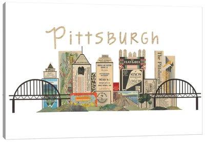 Pittsburgh Horizontal Skyline Canvas Art Print