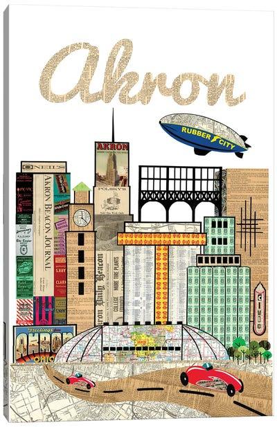 Akron Oh Skyline Canvas Art Print