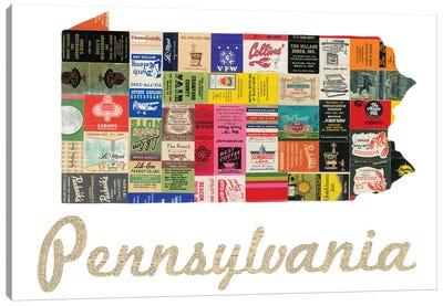 Pennsylvania Matchbook Canvas Art Print