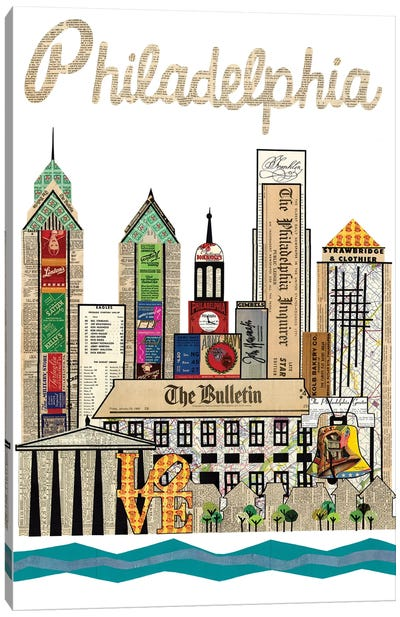 Philadelphia Skyline Canvas Art Print