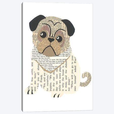 Pug Canvas Print #CTZ48} by Paper Cutz Art Print