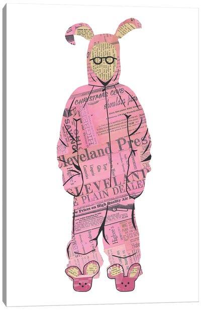 Ralphie Pink Bunny Canvas Art Print
