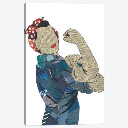Rosie The Riveter Canvas Print #CTZ51} by Paper Cutz Canvas Artwork