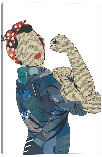 Rosie The Riveter Canvas Art Print